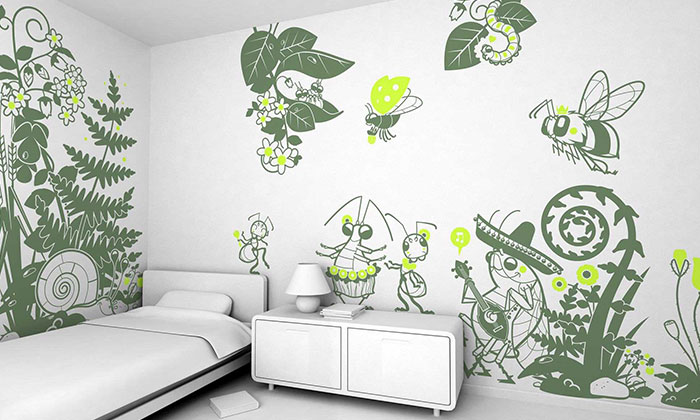 Công ty còn cung cấp nhiều mẫu decal dán tường nhà rất đẹp