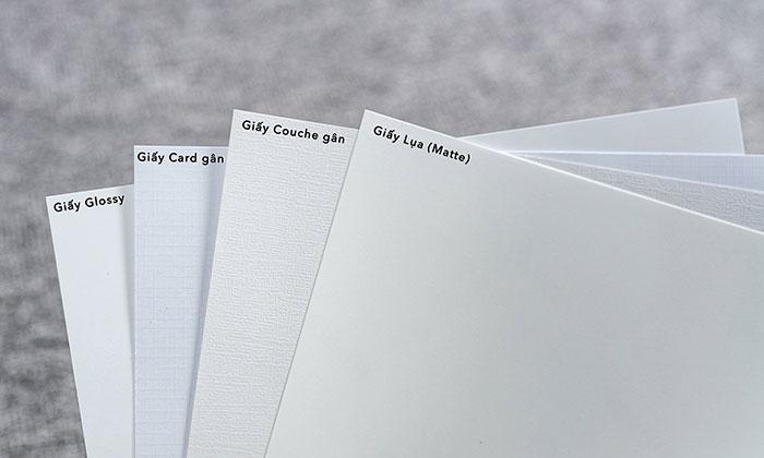 Giấy couche là chất liệu in name card phổ biến nhất ở Việt Nam