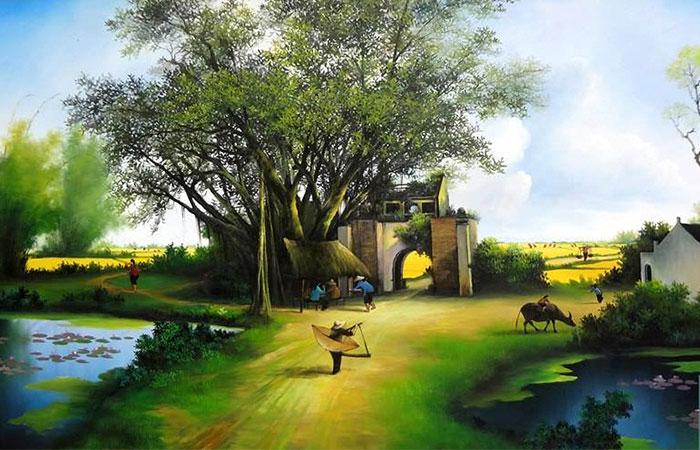 Người mệnh Mộc thích hợp với những dòng tranh cây cối và thiên nhiên