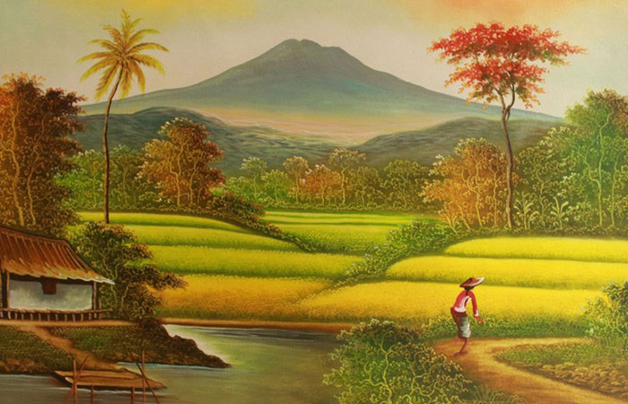 Người tuổi Dần mệnh Thổ thích hợp với tranh có gam màu nâu. Đại diện như làng quê hoặc núi cao