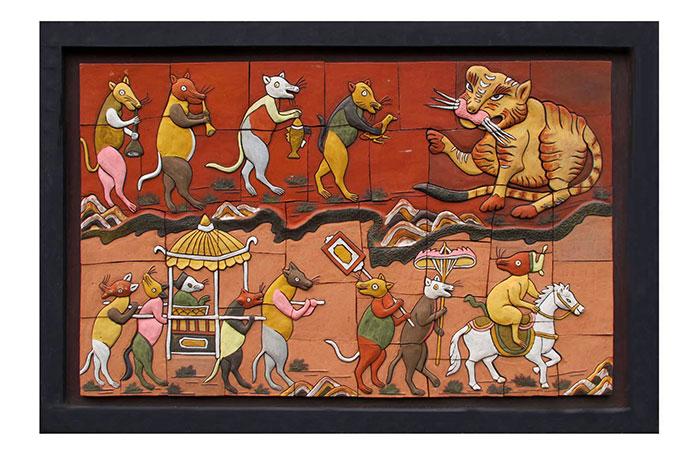 Người tuổi Mẹo nên tránh treo tranh về chuột như tranh đám cưới chuột này