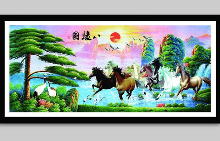 Nhật xuất thiên sơn kết hợp cùng mã đáo thành công, cực kỳ thích hợp dành cho người tuổi Mùi mệnh Hỏa