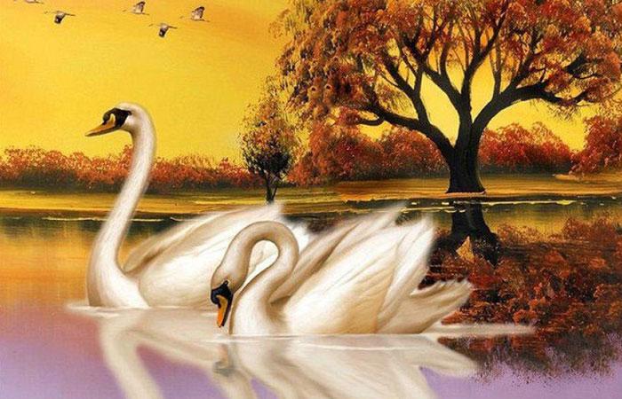 Những bức tranh có màu trắng và màu nâu đất sẽ thích hợp cho những gia chủ tuổi Mão mệnh Kim