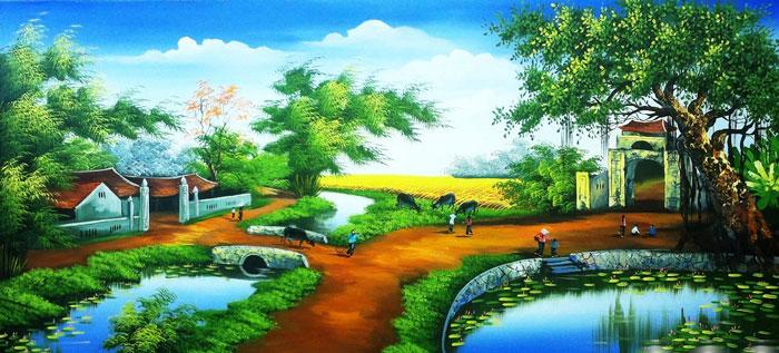 Những bức tranh mang yếu tố đất nhiều rất phù hợp với tuổi Tân Sửu
