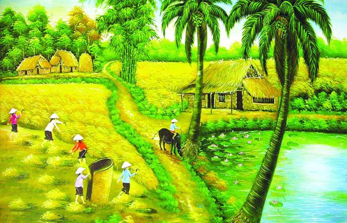 Những tranh về cây cối có thể là loại tranh phỏng thủy thích hợp cho người tuổi Bính Dần