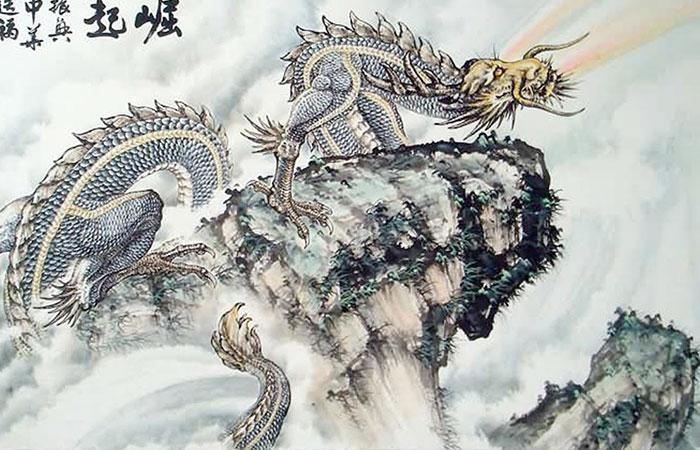 Rồng là con giáp thiêng liêng nhưng tranh rồng sẽ không phù hợp với người tuổi Tuất