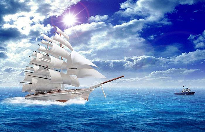 Thuận buồm xuôi gió là mẫu tranh chủ đạo của những người mệnh Thủy