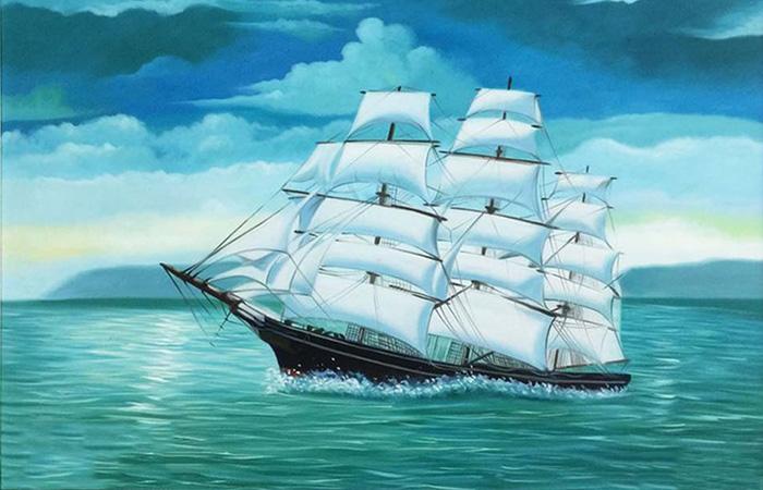 Thủy là nước nên những dòng tranh về biển sẽ thích hợp
