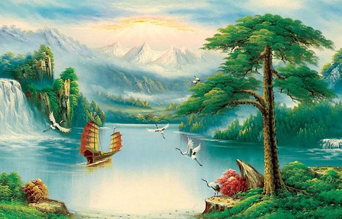 Tranh có nhiều nước sẽ rất thích hợp với tương sinh là mệnh Thủy