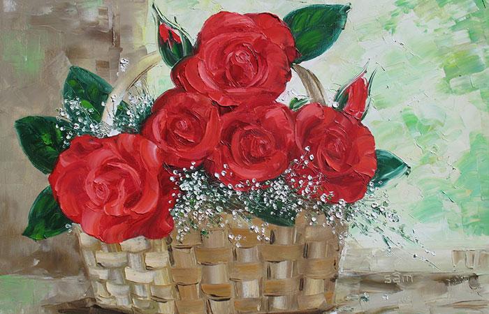 Tranh hoa hồng có tông đỏ sẽ thích hợp với người mệnh Hỏa