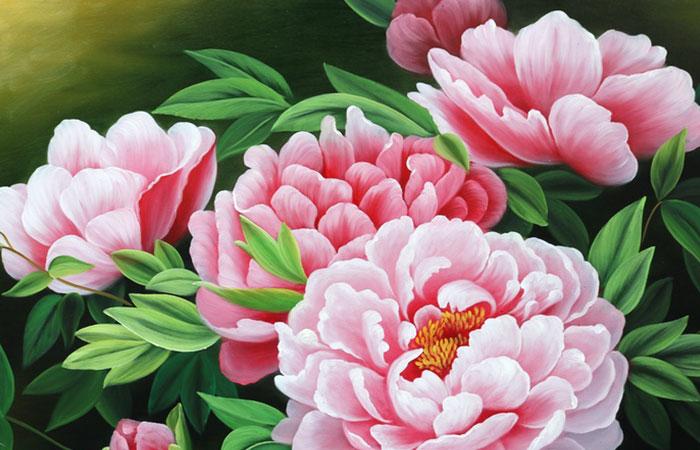 Tranh hoa mẫu đơn đại diện cho sung túc, ấm no trong những nhà thượng lưu thời xưa