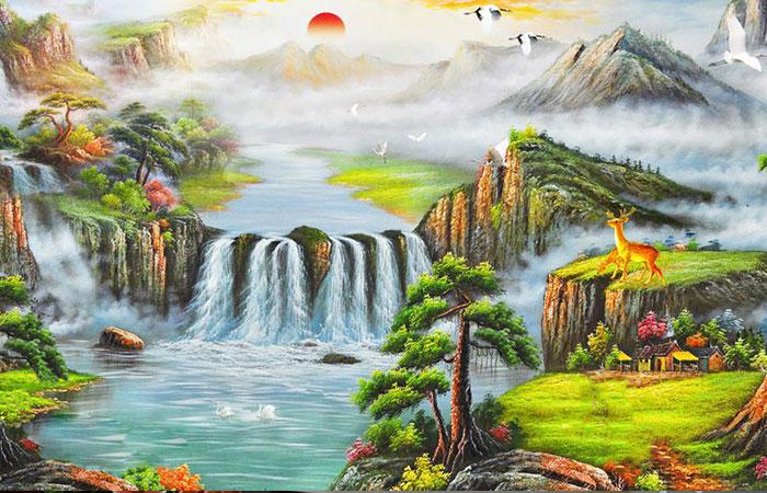 Tranh nhật xuất thiên sơn đem lại nhiều niềm tin, năng lượng cho ngày mới