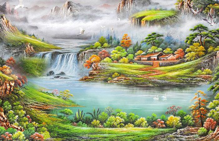Tranh núi rừng dành cho người mệnh Thổ