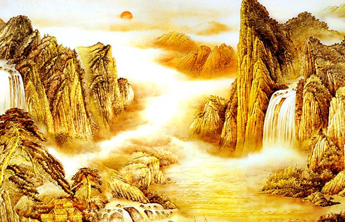 Tranh phong cảnh về núi non