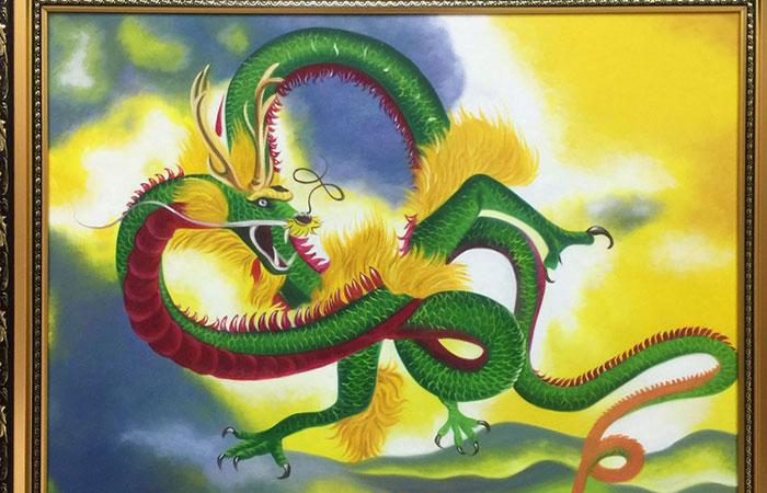 Tranh Rồng xanh phù hợp với tất cả những người tuổi Thìn hiện tại