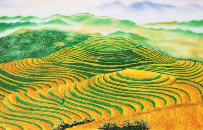 Tranh ruộng bậc thang là những dòng tranh chỉ có ở Việt Nam