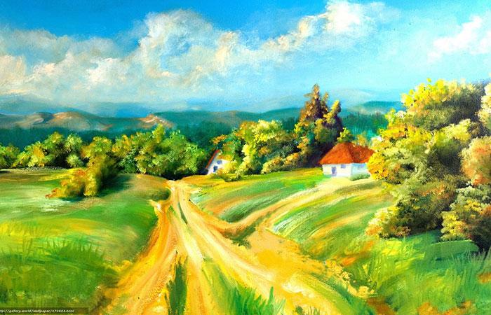 Tranh sơn dầu về chủ đề thiên nhiên, thích hợp với gia chủ tuổi Tuất mệnh Mộc