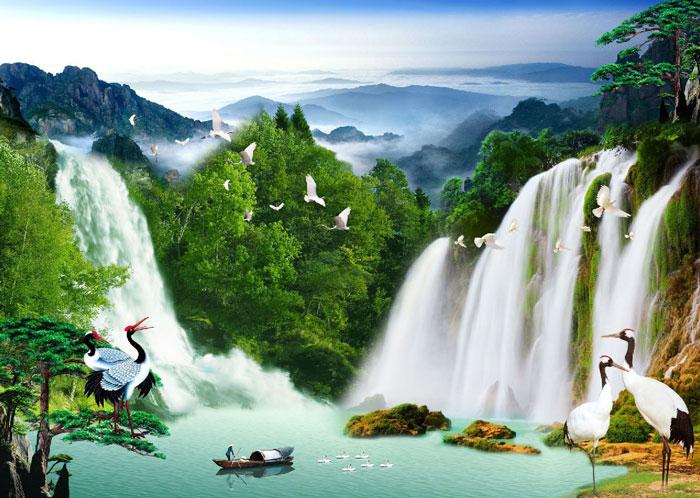 Tranh sơn thủy là loại tranh đảm bảo sự hài hòa của các yếu tố trong tự nhiên