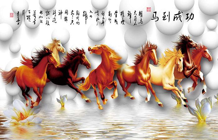 Tranh về ngựa là tranh phù hợp với tuổi Dần và được bán nhiều trên thị trường