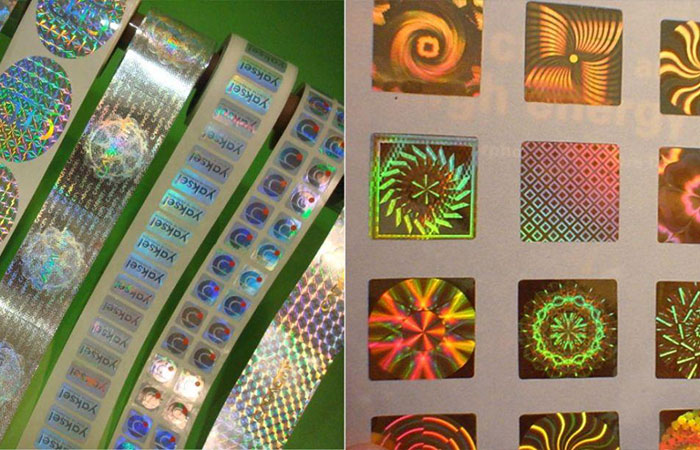 Decal 7 màu thường dùng làm các loại tem bảo hành