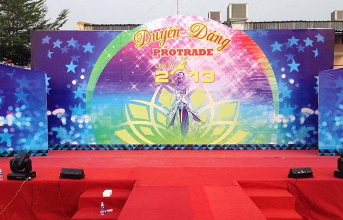 In bạt uv 3M cho độ sắc nét cùng nhiều hứng đẹp khi làm backdrop sự kiện