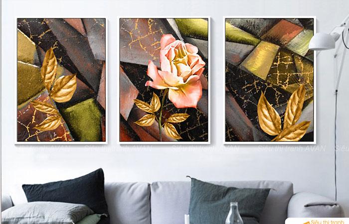 Cách trang trí phòng khách bằng tranh