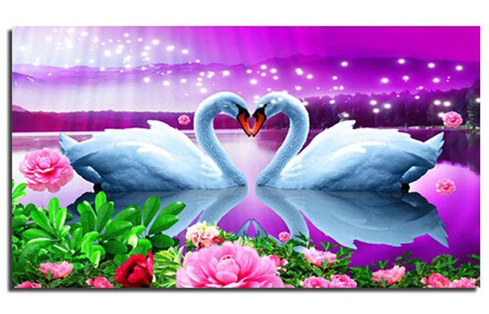 Tranh thiên nga là loại tranh thích hợp treo trong phòng ngủ vợ chồng