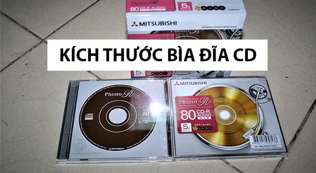 Kích thước bìa đĩa CD, DVD chuẩn, thiết kế in nhãn đĩa CD