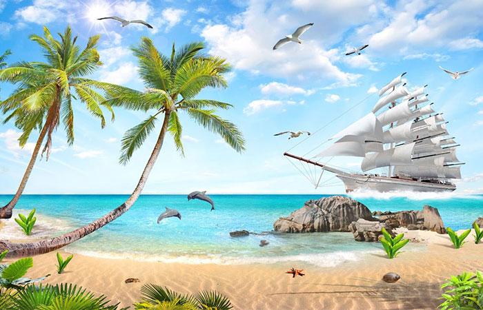 Tranh thuận buồm xuôi gió đẹp nhất