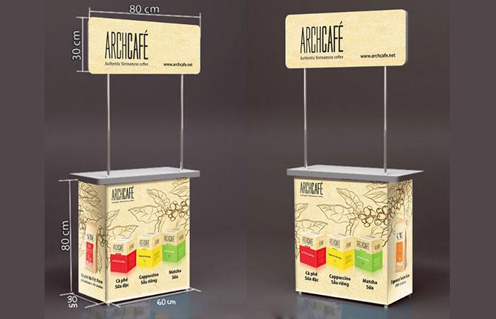 Quấy bán hàng di động bằng nhựa giúp quảng bá sản phẩm dễ dàng hơn