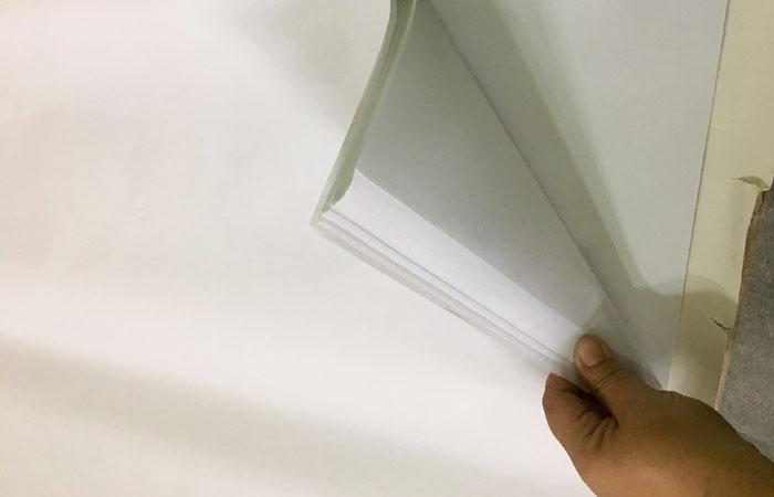 Tiến lên 1 cấp thì khổ giấy sẽ giảm đi 1 nửa