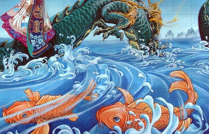 ý nghĩa tranh cá chép hóa rồng trong phong thủy