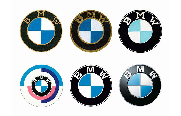 Logo dạng huy hiệu của hãng xe BMW