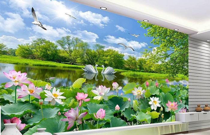 Tranh phong cảnh treo tường trang trí trong nhà