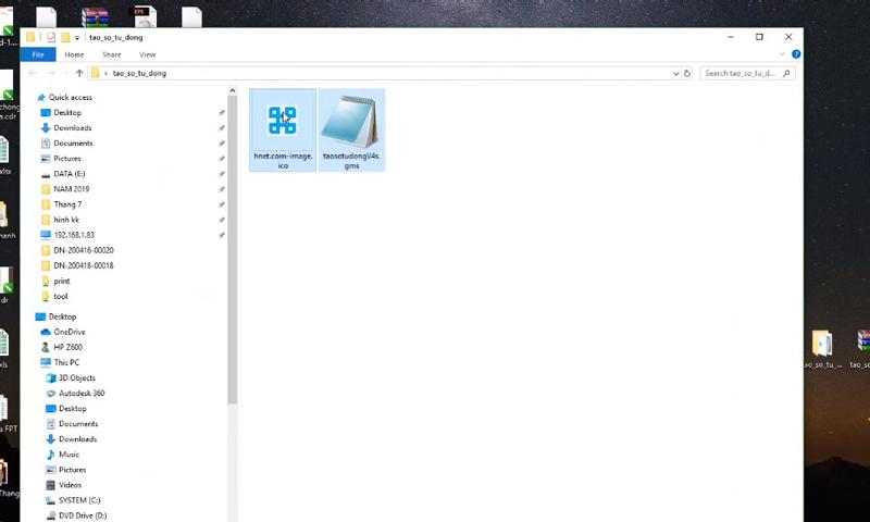 Chọn file icon cho chương trình