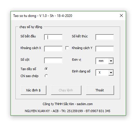 Hình ảnh tool chạy số tự động