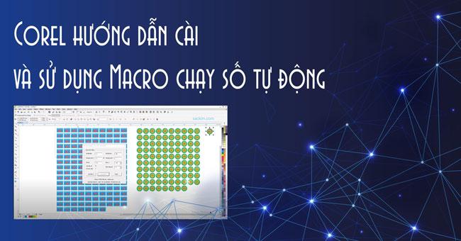 Phần mềm chạy số tự động trên Corel giúp tạo dãy số nhanh