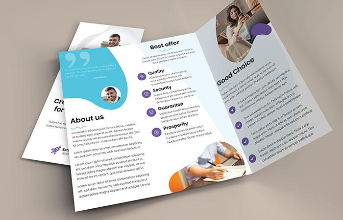 Brochure kích thước A4 gấp được sử dụng phổ biến nhất
