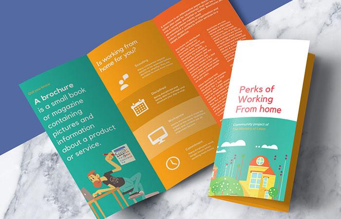 Doanh nghiệp có thể sáng tạo kiểu gấp brochure mà mình muốn