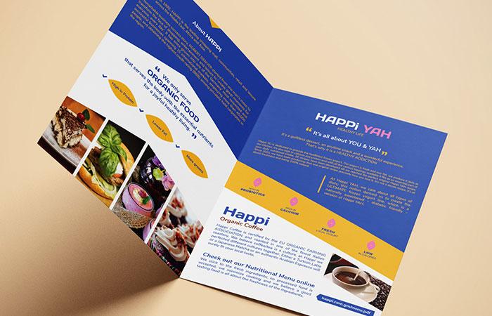 Hình ảnh trên brochure cần được đầu tư đẹp, bắt mắt để khách hàng có thiện cảm về sản phẩm