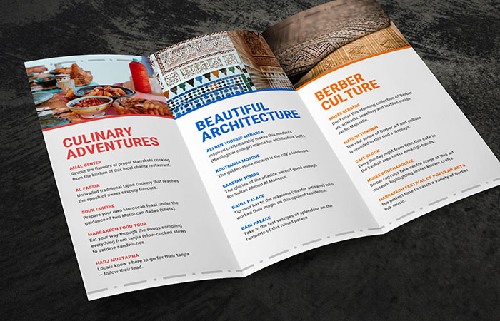 In brochure trong lĩnh vực thực phẩm