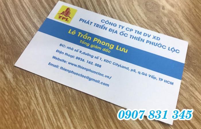 In name card Bình Thạnh