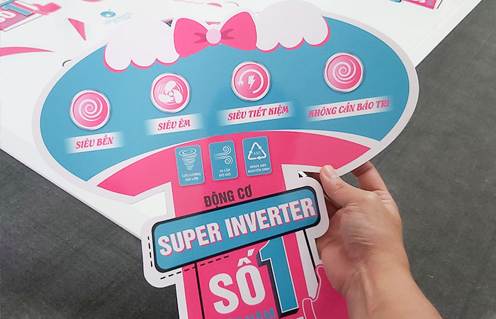 In sticker decal trắng sữa