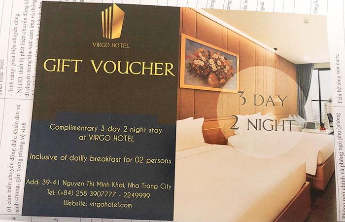 In voucher giảm giá khách sạn