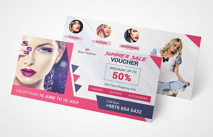 Voucher khuyến mãi giảm giá thời trang