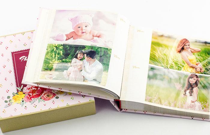 Album ảnh thưởng làm với kích thước ảnh cố định và giới hạn số lượng ảnh