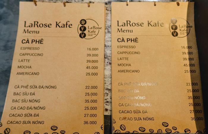 Làm menu cho quán cafe