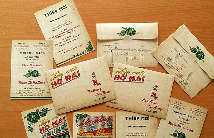 Mẫu bao thư in trên chất liệu giấy Kraft