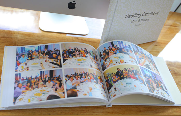 Mẫu photobook sau khi được sản xuất hoàn thành