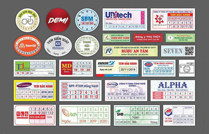 Tem bảo hành giúp khách hàng dễ dàng bảo hành sản phẩm